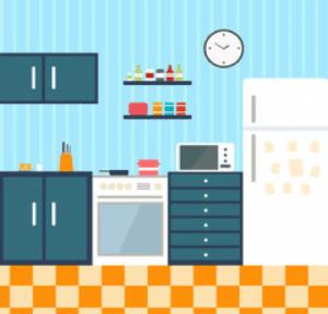 cuisine complète, frigo, gazinière, micro-onde et placards.