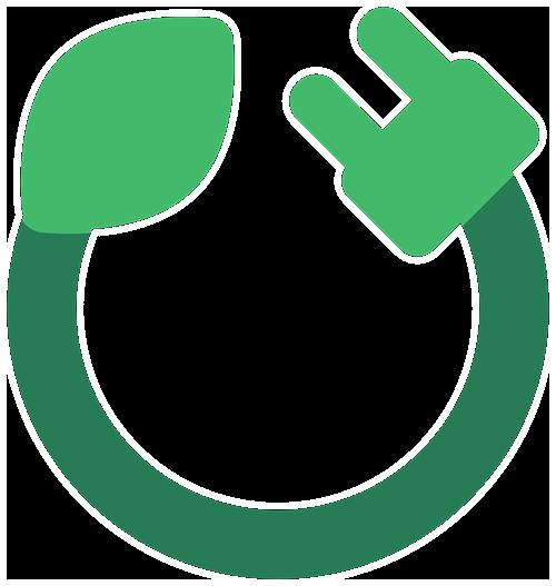 eco-note énergie top niveau une prise en forme de u remplie de vert