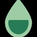 eco-note eau top niveau une goute d'eau remplie